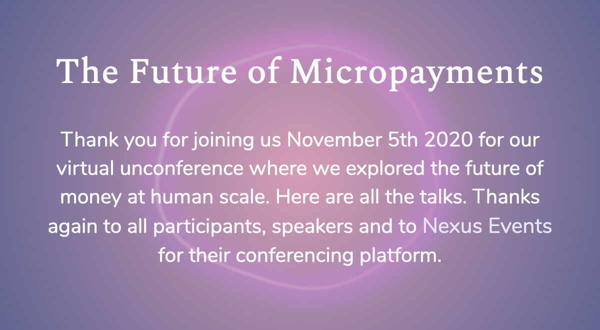 Creativity at the Future of MicroPayments Conference 2020
