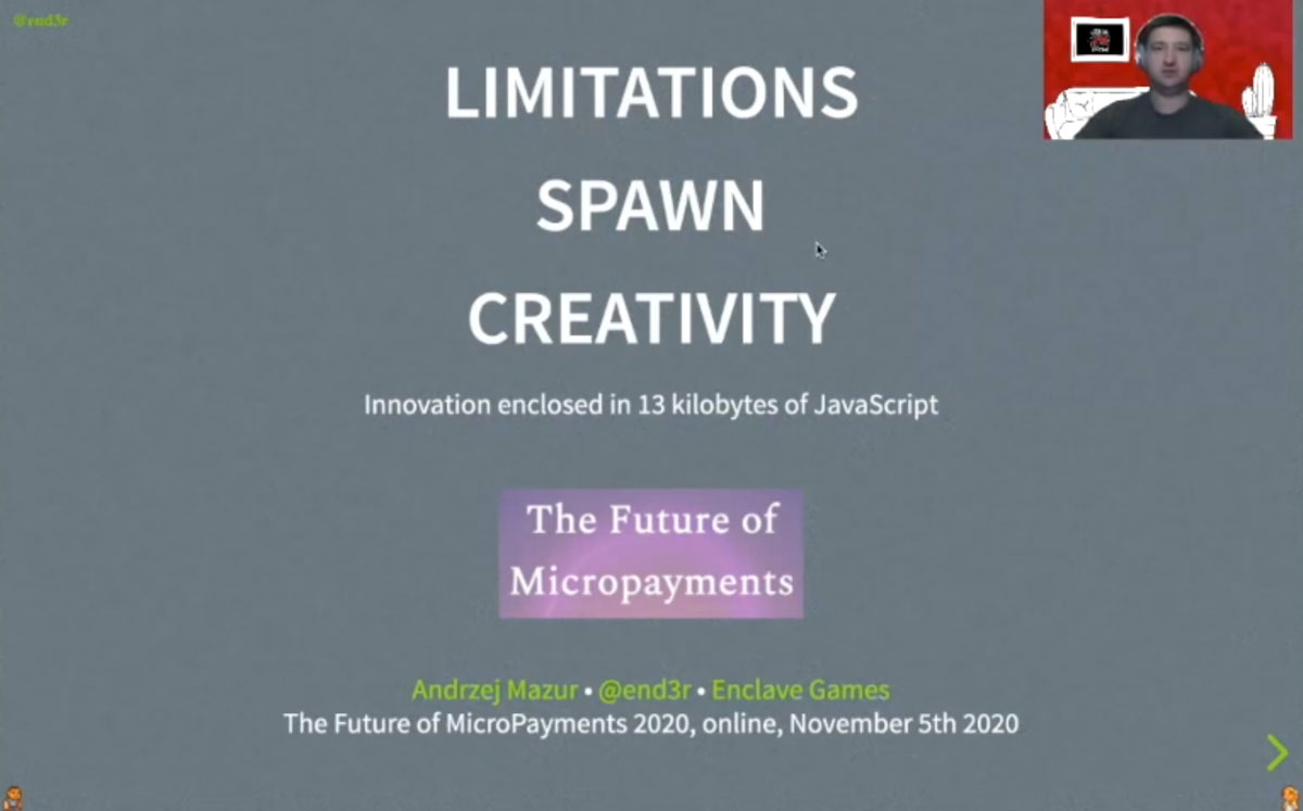End3r's Corner - Future of MicroPayments: limitations