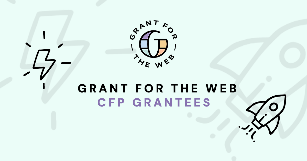 Familiar faces in the first Grant for the Web CFP announcements