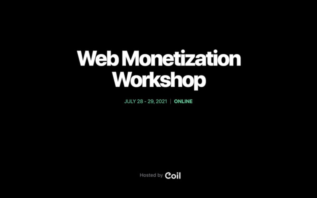 Web Monetization Workshop