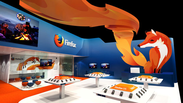 Mobile World Congress 2014 in Barcelona - Mozilla booth