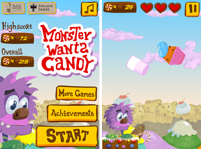 Monster Wants Candy game