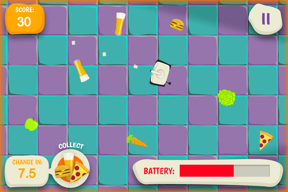 Hungry Fridge - gamepad gameplay