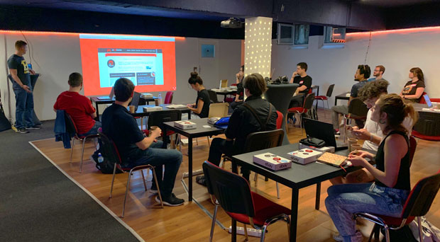Js13kGames 2019 hackday in GameOn Berlin with eBay Tech.