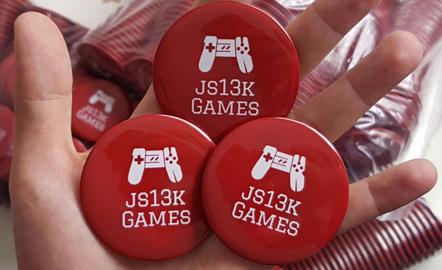 js13kGames 2019 pins