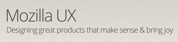 Mozilla UX